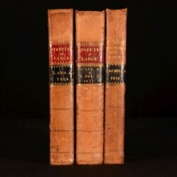 1824-1835 3vol A Collection Of The Public General Statutes William Iv George Iv