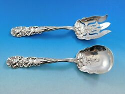 Raphael By Alvin Sterling Silver Salad Serving Set 2-piece Small 7 1/2