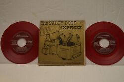 Vintage Salty Dogs Express Purdue Double 45rpm Red Vinyl Records Jazz