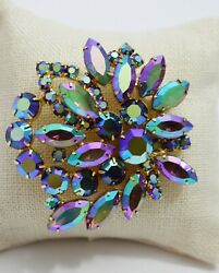 Stunning High End Vintage Estate Rhinestone Statment Brooch