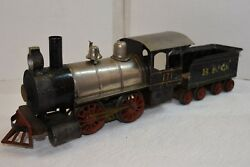 VINTAGE EARLY (No. 4) 0-4-0  CARLISLE & FINCH LOCOMOTIVE/TENDER, NICE ORIGINAL..