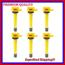 6pc High Performance Ignition Coil Jhd286y For Honda Pilot 3.5l V6 2007 2008