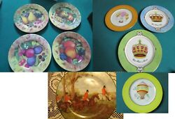 Email De Limoges France Salad Plates China Collector Plate Hunting Scene Pick 1