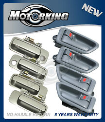 For 97-01 Toyota Camry Outside Door Handle Silver 1C8 SET 8PCS