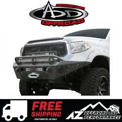 Add Honeybadger Winch Front Bumper For 2014-2019 Toyota Tundra