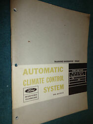 1968 FORD AUTOMATIC CLIMATE CONTROL SHOP MANUAL / BOOK / ORIGINAL