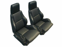 CHEVY CORVETTE C4 SPORT TYPE5 1984 1993 BLACK S.LEATHER CUSTOM FIT SEAT COVER $149.00
