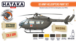 Hataka Hobby Paints U.s. Army Helicopters Colors Orange Line Lacquer Paints