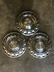 Set Of 3 Vintage Ford Mustang 14 Hub Cap Wheel Covers 14 Inch 1970's
