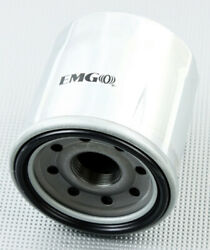 2 Pack Emgo 2008-2013 Kawasaki Zg1400 Concours Oil Filter Chrome 10-82220