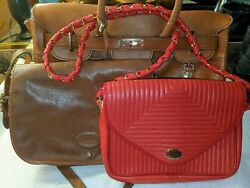 Three Vtg French luxury designer bags Rodolphe SAD $29.00