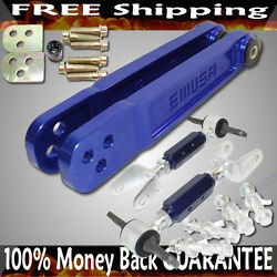 Blue F/r Rear Camber Kits+rear Lower Control Arm For 02-06 Acura Rsx