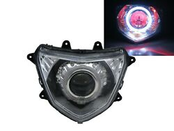 Tigra 12-on Motorcycles Guide Led Angel-eye Projector Headlight Chrome For Pgo