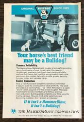 1978 Hammerblow Bulldog Trailer Coupler Wausau WI Print Ad Horses Best Friend