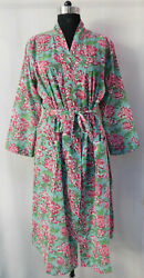 Gypsy Kimono Cotton Intimates Fashionable Crossover Sexy Nightdress Bathrobe 45