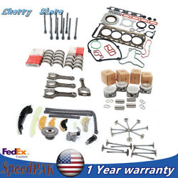 Engine Overhaul Rebuild Kit And Valves And Con Rods Fit For Vw Gti Audi 2.0t Cdn Ccz