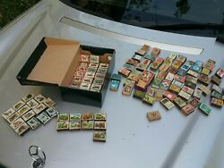 Vntg. Collection Lot Matchboxes Safety Used Empty Boxes Matches Over The World