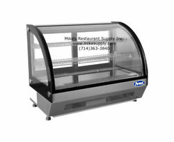 New 28 Refrigerated Curved Glass Counter Top Display Case Atosa Crdc-35 2653