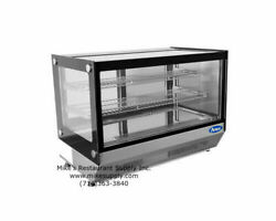 New 28 Refrigerated Counter Top Glass Display Case Bakery Atosa Crds-42 2655