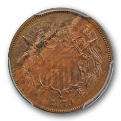 1870 2c Two Cent Piece Pcgs Pr 64 Bn Proof Us Type Coin Low Mintage