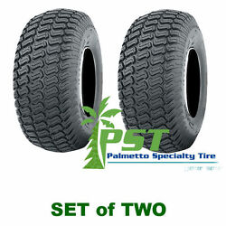 Set Of Two 20x8.00-8 Soft Turf Tires For Lawn Mower Riding Mower 20x800-8