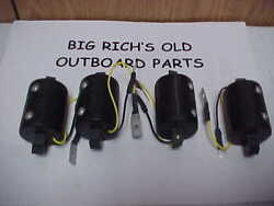 Four 2 Spark Replacement Coil For Early Elto Type Outboard Motors New Old Stock