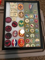 Vintage Eagle Scout Medal And Patches In Display Case