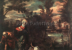 Tintoretto Flight Into Egypt Artist Painting Reproduction Handmade Oil Canvas