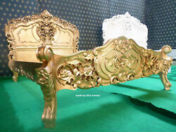 Any Size Made To Order Gold Leaf French Style Rococo Bed