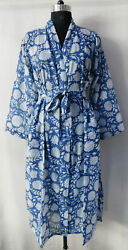 Gypsy Cotton Crossover Kimono Floral Printed Bridal Robes Sleepwear Intimates 75