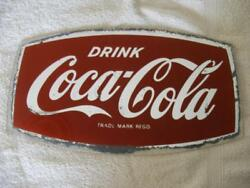 Genuine Old Coca Cola Coke Advertising Glass Mirror Collectible 1950and039s 1960and039s