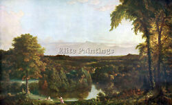 In The Catskills Thomas Cole Artist Painting Reproduction Handmade Oil Canvas