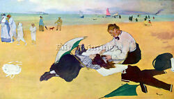 Small Girls On The Beach By Degas Artist Painting Oil Canvas Repro Wall Art Deco