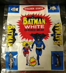 Vintage Batman And And Robin Golden State White Enriched Bread Wrapper, 1966