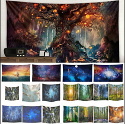 Small Large Tapestry Landscape Wall Hanging Decor Bedspread HOME Art Decor Throw