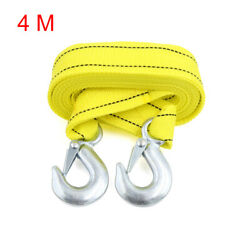 4m 3 Tons Car Vehicle Boat Tow Strap Towing Belt Rope Cable String With Hooks