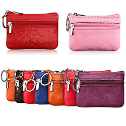 Fashion Women Leather Coin Purse Wallet Clutch Zipper Small Charge Soft Bag Mini