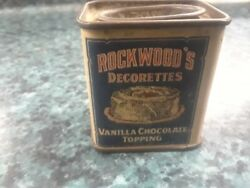 Vtg Rockwoods Decorettes Vanilla Chocolate Topping Sample Trial Size Tin