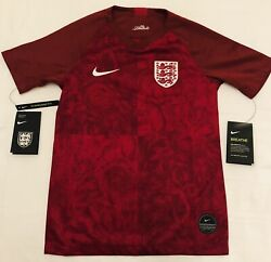 Nike England National Team 2018 Soccer Red Away Jersey Youth Xl X Large Msrp 75