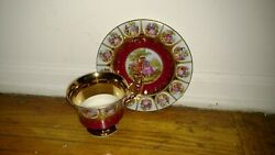 Vintage Germany Bavaria Cup And Saucer With Love Scenes