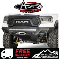 Add Stealth Fighter Front Winch Bumper W/ Sensors For 2019 Dodge Ram Rebel 1500