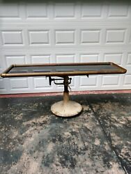 Antique Black Glass Embalming Table