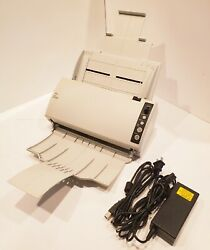 Over 80 Sold Fujitsu Fi-6110 Color Duplex Document Scanner With Trays+ac+usb