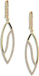 2.40ct Natural Round Diamond 14k Solid Yellow Gold Hook Dangler Earring