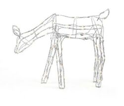 Holiday Living Lighted Metallic Grazing Doe 4 Foot 3 Inch X 12 Inch X 37 Inch