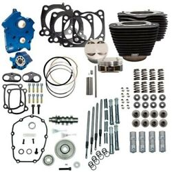 Sands 114 128 Oil Cooled Power Package Gear Drive Black Chrome Harley M8 17+ Nh