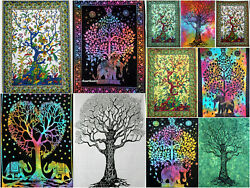 Indian Mandala Tree of Life Cotton Wall Hanging Dorm Decor Poster Tapestry Throw