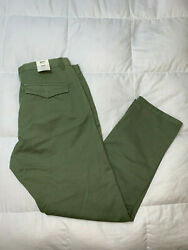 Authentic Scotch And Soda Mott Chino Super Slim Fit Sage Green Mens Pants 34x32.