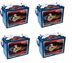 Replacement Battery For Club Car 12v 2five Golf Cart 4 Pack
