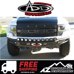 Add Race Series R Front Winch Bumper Alum Valence Blk For 10-14 Ford F150 Raptor